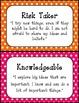 IB Learner Profiles with Polka Dot Border