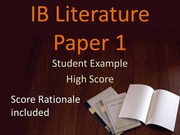 IB Literature Paper 1 Student Example: High Score Prose