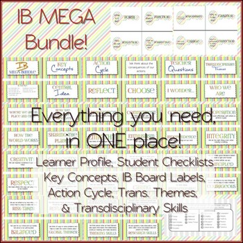 IB MEGA Bundle: Attitudes and Attributes, Key Concepts, Student Checklist & MORE