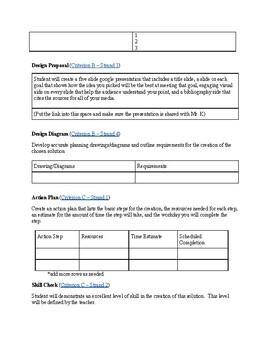 IB MYP 3 Design Portfolio Template