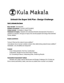 IB MYP 3 Design - Unleash the Super - Unit Plan