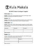 IB MYP 5 Sciences Lab Report Template