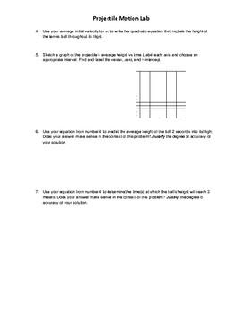 IB MYP Assessment - Criterion D Projectile Motion