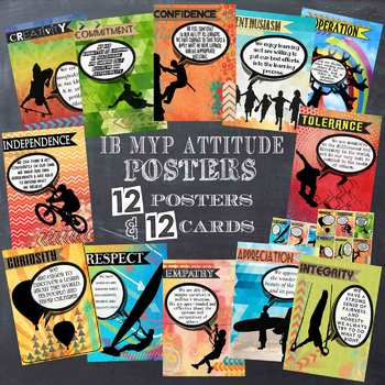 IB MYP Attitude Posters for A4 Paper