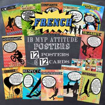 IB MYP Attitude Posters in French for US Paper