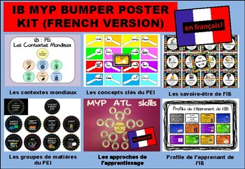 IB MYP Bumper Poster Kit in FRENCH (en français)
