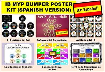 IB MYP Bumper Poster Kit in SPANISH (en español)