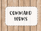 IB MYP Command Term Posters {EDITABLE} for ALL Subject Groups