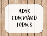 IB MYP Command Terms for Arts Posters