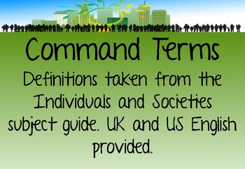 IB MYP Command Terms for Individuals and Societies