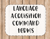 IB MYP Command Terms for Language Acquisition Posters