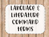 IB MYP Command Terms for Language and Literature Posters