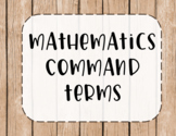 IB MYP Command Terms for Math Posters