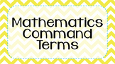 IB MYP Command Terms for Mathematics Posters