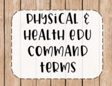 IB MYP Command Terms for Physical and Health Education Posters