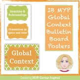 IB MYP Global Context Bulletin Board Posters