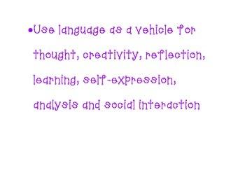 IB MYP Language and Literature AIMS