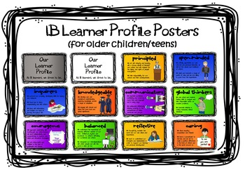 IB MYP (or older PYP) Learner Profile Posters