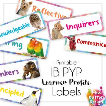 IB MYP Learner Profile Rectangle Labels