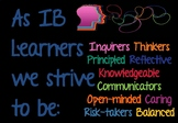 IB MYP Learner Profile attributes posters