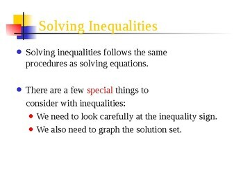 Math inequalities