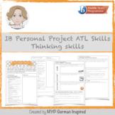IB MYP Personal Project ATL skills: Thinking skills