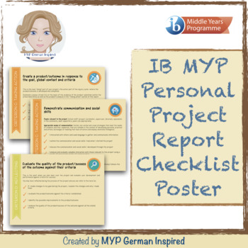 Ib Myp Personal Project Report Checklist Poster International Baccalaureate