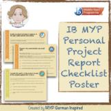 IB MYP Personal Project Report Checklist Poster (Internati