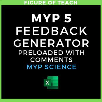 IB MYP Science Feedback Generator excel file