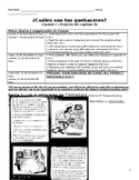 IB MYP Spanish Chores & Affirmative Tú Commands Project