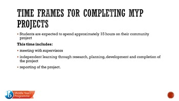 IB MYP community project guide