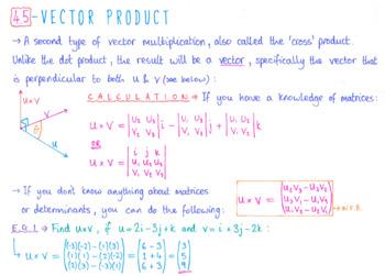 Ib Math Hl Topic 4 Vectors Notes By Jack Mcrobert Tpt