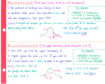 IB Math HL - Topic 5 - Statistics - Notes