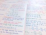 IB Math SL - A3 Revision Posters