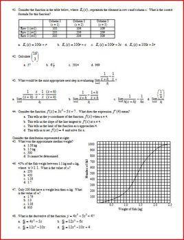 IB Math SL Final Exam Spring 2012 - Multiple-Choice with Answer Key (Editable)