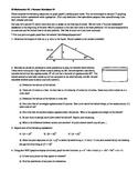IB Math SL (Math Methods) Summer Worksheet 3 (Editable)