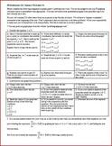 IB Math SL (Math Methods) Summer Worksheet 4 (Editable)