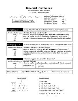 IB Math SL TI-Nspire Statistics and Probability Calculator Guide