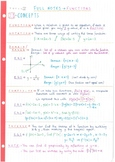 IB Math SL - Topic 2 - Functions - Notes