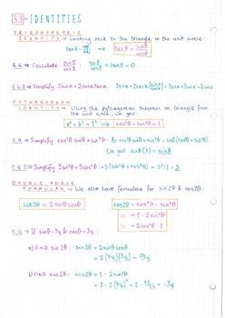 IB Math SL - Topic 3 - Trigonometry - Notes