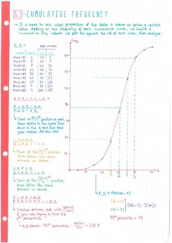 IB Math SL - Topic 5 - Statistics & Probability - Notes