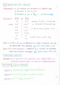 IB Math SL - Topic 6 - Calculus - Notes