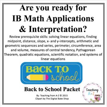 Ib Math Worksheets & Teaching Resources | Teachers Pay Teachers