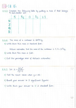 IB Math Studies SL - Topic 1 - Number & Algebra - Notes