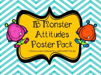 IB Monster Attitudes Poster Pack