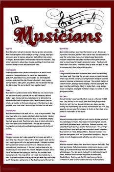 IB Musician Learner Profiles