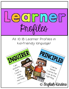 IB Neon Learner Profiles (Kid-Friendly)