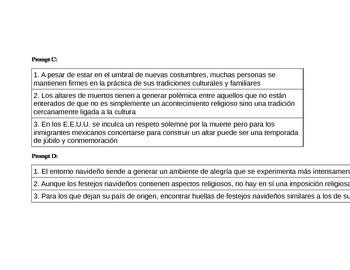 IB Oral Exam Prompts