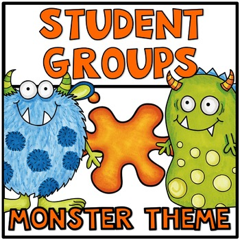 Pick a Partner Student Grouping Monsters
