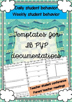 IB PYP ANECDOTAL RECORDS, CONFERENCES AND PTM